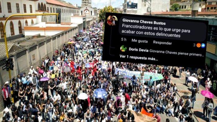 Funcionaria de Pasto pide francotiradores para acabar con manifestantes