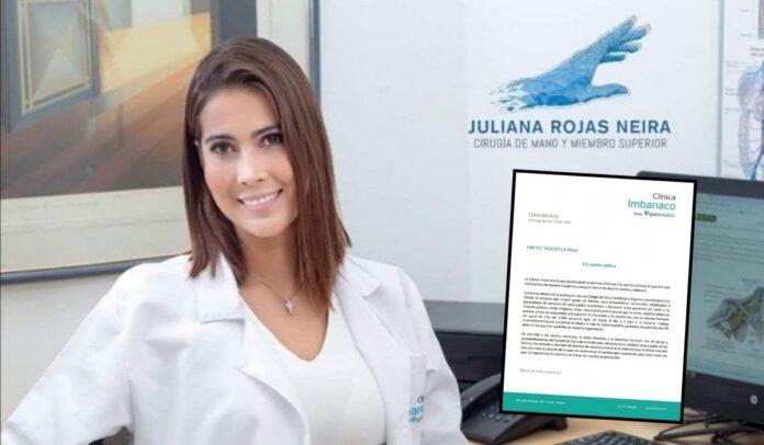 La doctora Juliana Rojas Neira se arrepiente de sus palabras