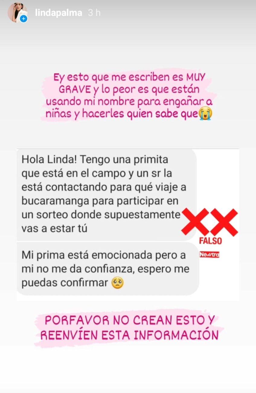 Linda Palma denuncia