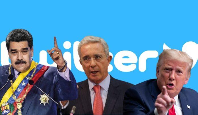 Maduro, Uribe, Trump y Bolsonaro los sancionados por Twitter