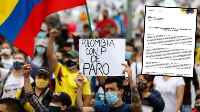 Mesa Nacional Popular de Diálogo envía carta a Iván Duque