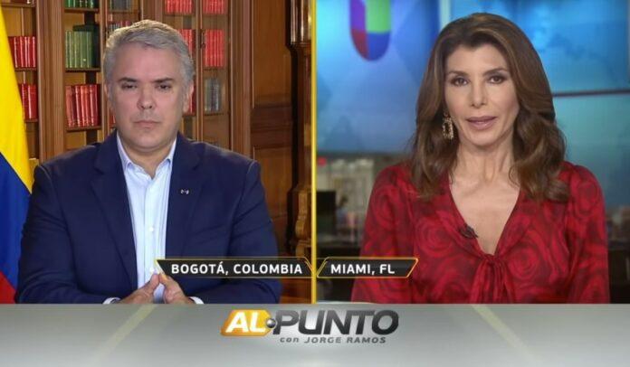 Patricia Janiot entrevistó a Iván Duque