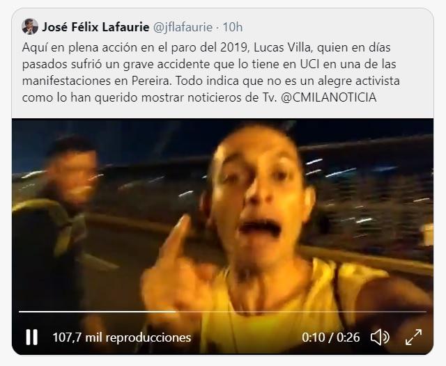 Trino de José Félix Lafaurie contra Lucas Villa
