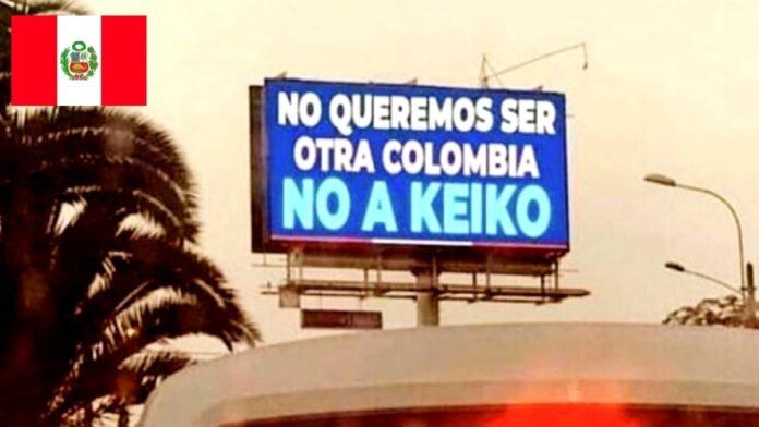 Valla publicitaria en Perú