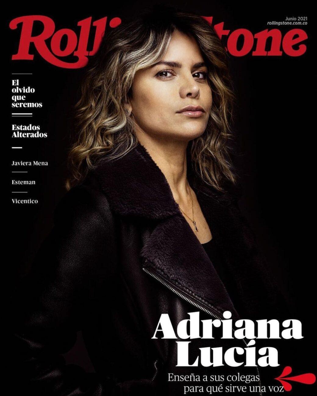 """""""Gracias a @rollingstonecolombia por esta maravillosa entrevista. Gracias por este espacio"""", Adriana Lucía."""