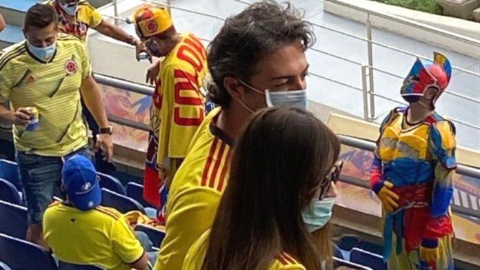 Daniel Quintero en el partido de Colombia