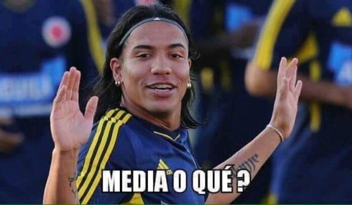 """Dayro Moreno y su meme """"medía de guaro o qué"""""""