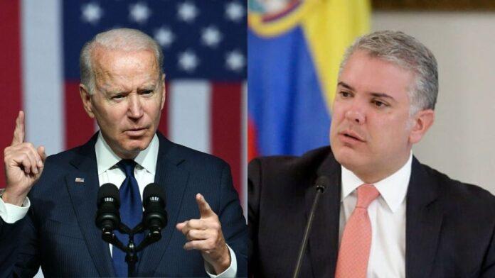 Diálogo de Joe Biden con Iván Duque