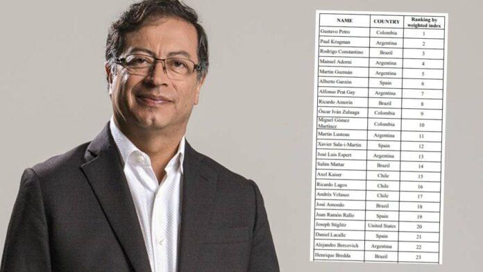 Gustavo Petro es el economista más influyente de América