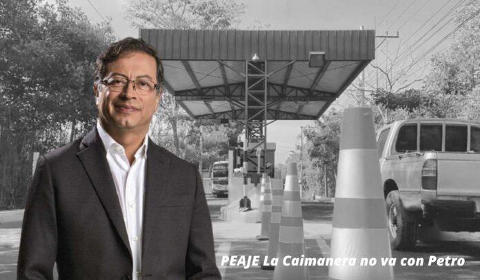Gustavo Petro sobre el peaje La Caimanera, ubicado entre Tolú y Coveñas