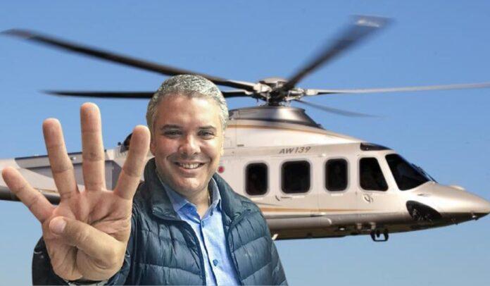 Iván Duque y su nuevo helicóptero