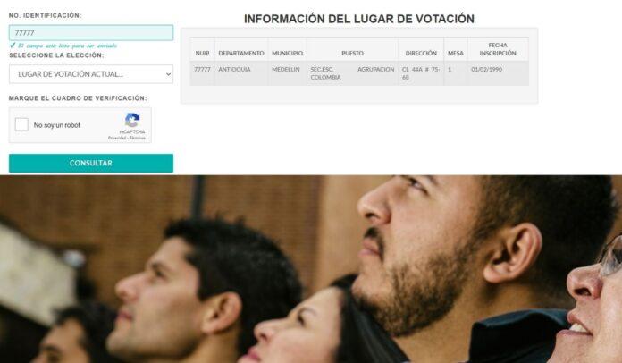 La cédula 77777 aparece registrada para votar en Medellín