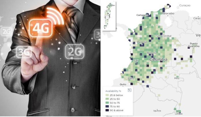 La red 4G de Colombia