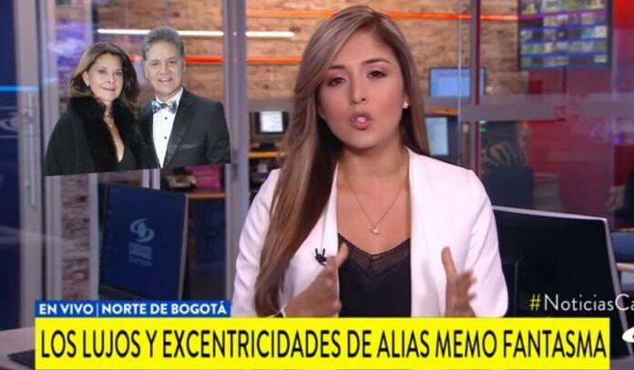 La reportera Catalina Vargas informó sobre los lujos de Memo Fantasma
