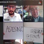 Llaman asesino a Uribe en España