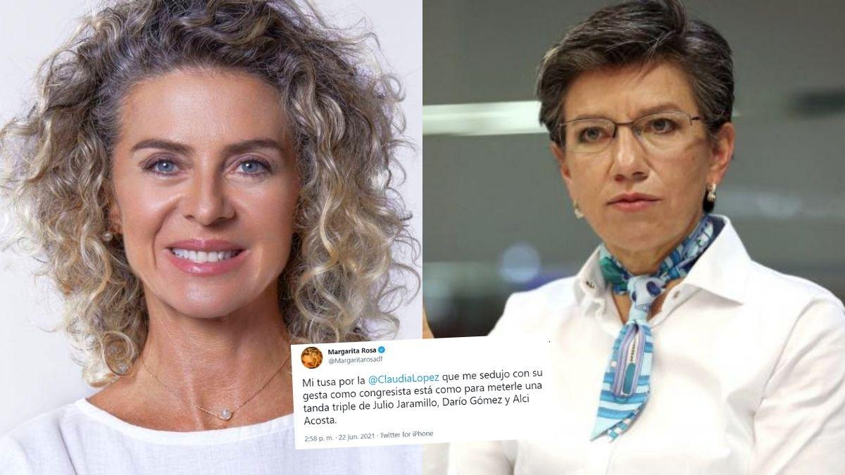 Margarita Rosa de Francisco sobre Claudia López