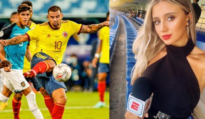 Morena Beltrán sobre el gol de Cardona