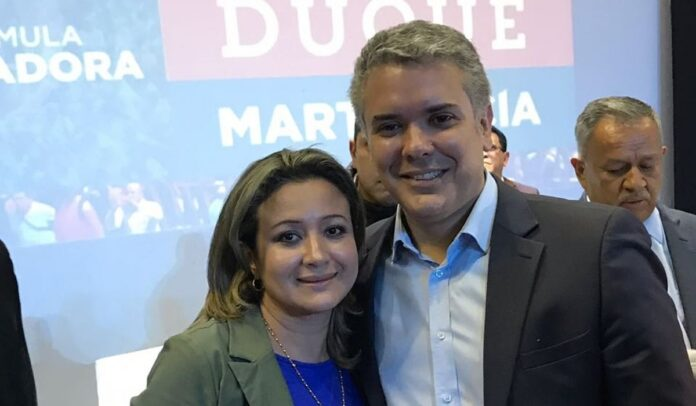 Tatiana Cabello, le hizo campaña al actual presidente Iván Duque