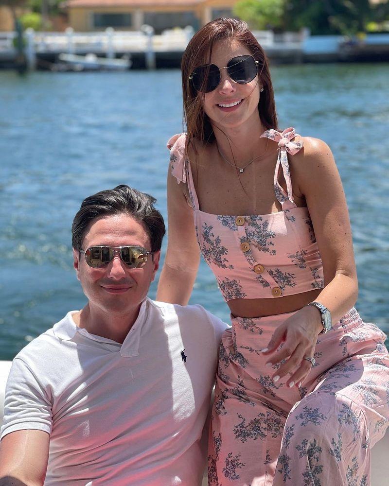 Alejandra Giraldo y su esposo su esposo Alejandro Serrano Roa.