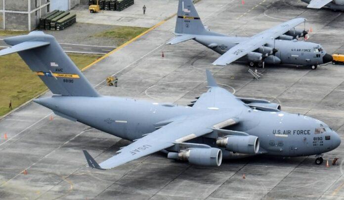 EEUU desplegó aviones C-17 y C-13.j a Colombia