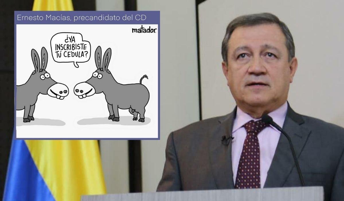 Ernesto Macías, el burro del Centro Democrático