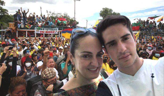 Hijo de María Fernanda Cabal insulta a manifestantes (1)