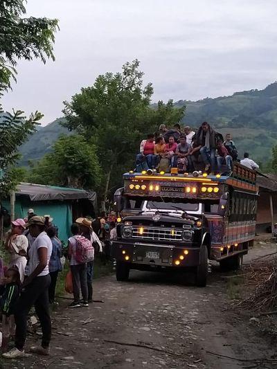 Desplazamiento forzado en Ituango, Antioquia.