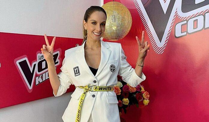 Laura Acuña, presentadora de La Voz Kids Colombia 2021