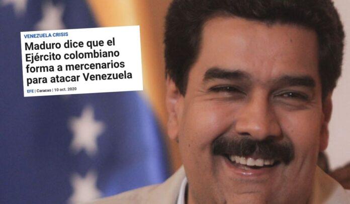 Maduro habló de mercenarios entrenados por Ejército colombiano
