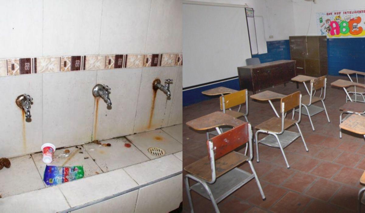 Malas condiciones en colegios públicos de Colombia