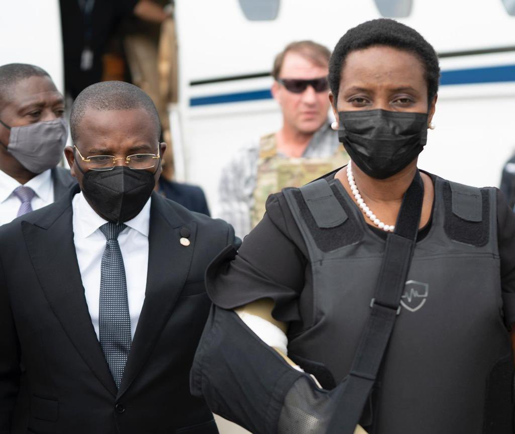Martine Moïse regresó a Haití.