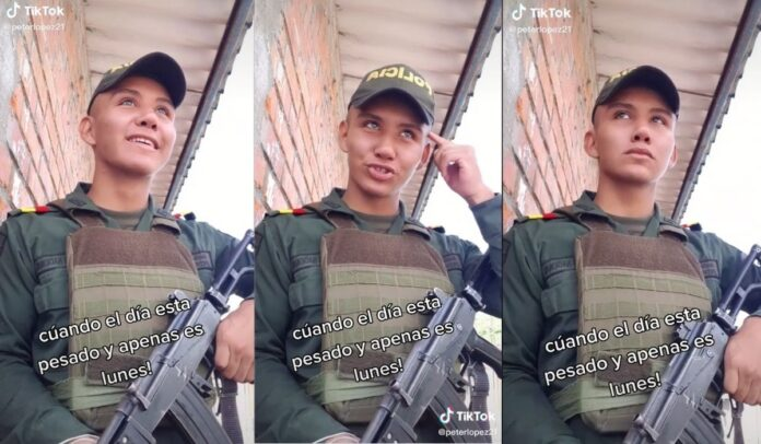 Polémica por policía en tik tok