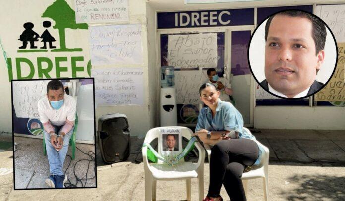 Protesta de empleados del IDREEC en Cesar