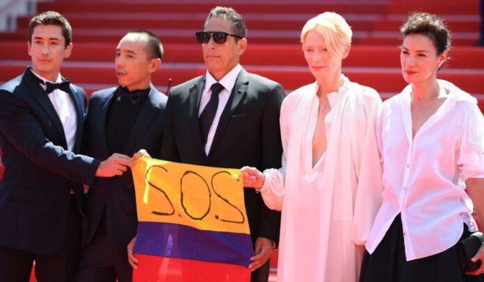 SOS Colombia en estreno de la película Memoria en Cannes