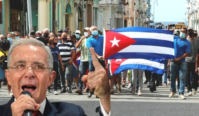 Uribe apoya protestas en Cuba (1)