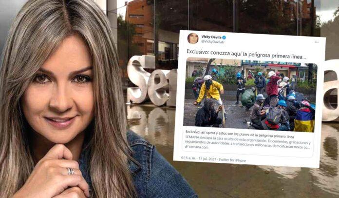 Vicky Dávila estigmatiza a la primera línea