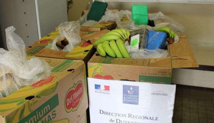 Cargamento de cocaína transportados en cajas de plátanos.