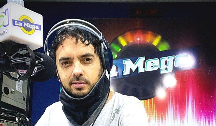 Daniel Trespalacios, locutor de El Cartel de la Mega