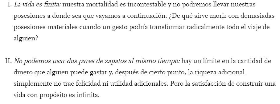 David Vélez sobre la riqueza. Fuente Giving Pledge