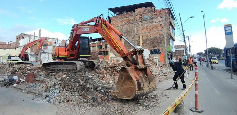 Metro de Bogotá demoliciones