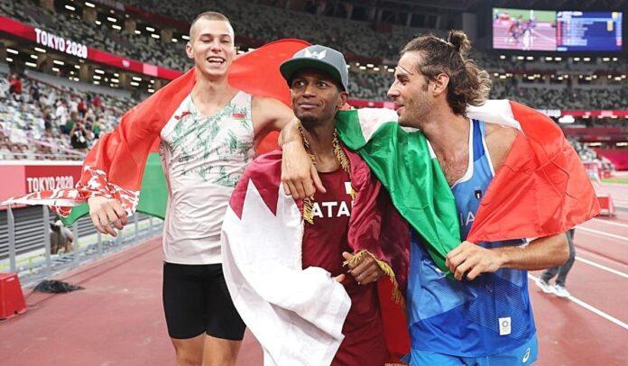 Un atleta de Catar y otro de Italia comparten el oro en salto de altura