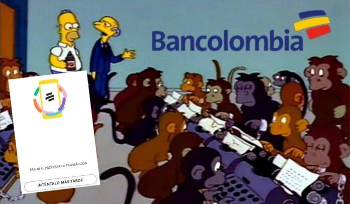Un meme de Los Simpson que refleja la situación de Bancolombia