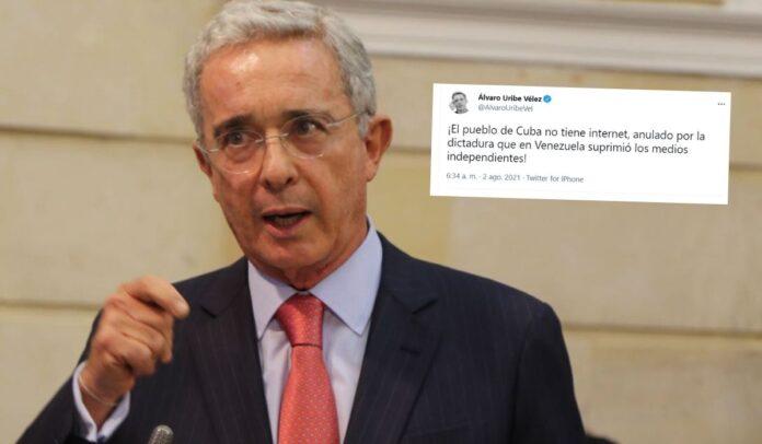Uribe defiende a los pueblos de Cuba y Venezuela