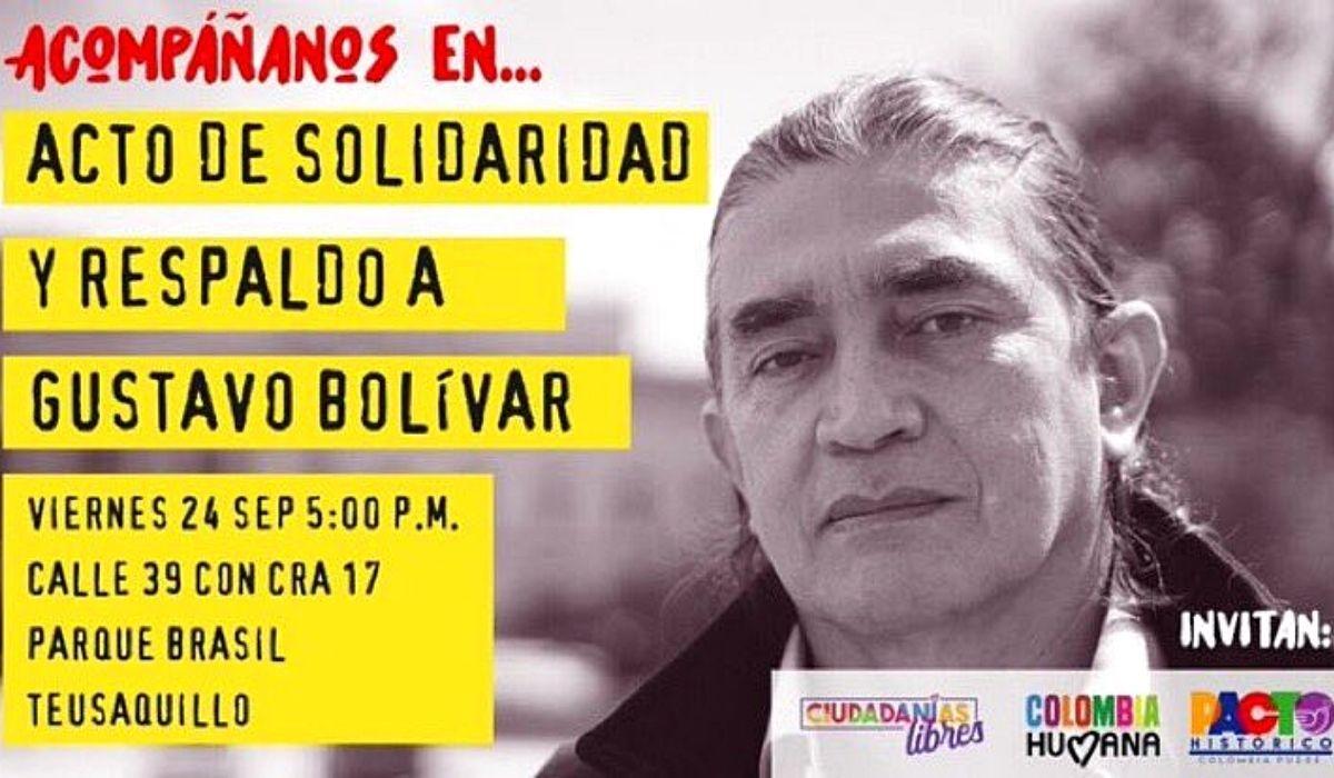 Acto en honor a Gustavo Bolívar