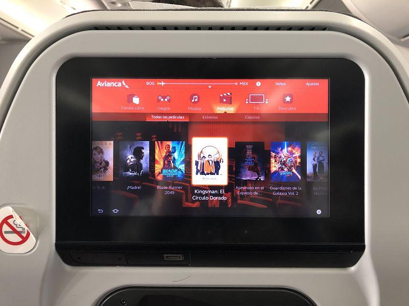 Adiós a las pantallas multimedia de Avianca.