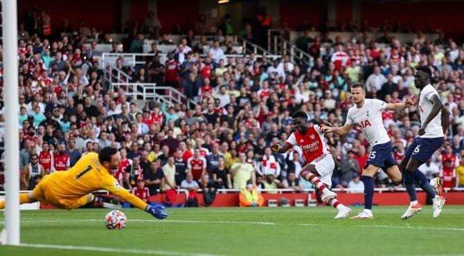 Bukayo Saka se mantuvo firme para disparar a los anfitriones en una brillante ventaja de 3-0