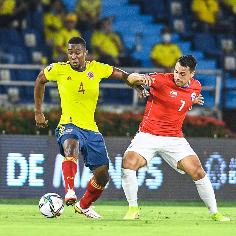 Carlos Cuesta, central de la Selección Colombia. Foto: FCF.