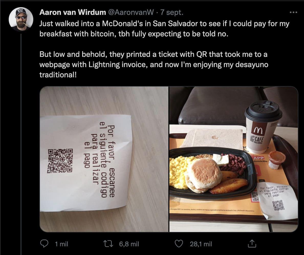 Cliente de McDonald's compró una Big Mac con BITCOIN