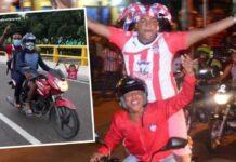 Jugadores del Junior iban tarde al aeropuerto y cogieron mototaxi
