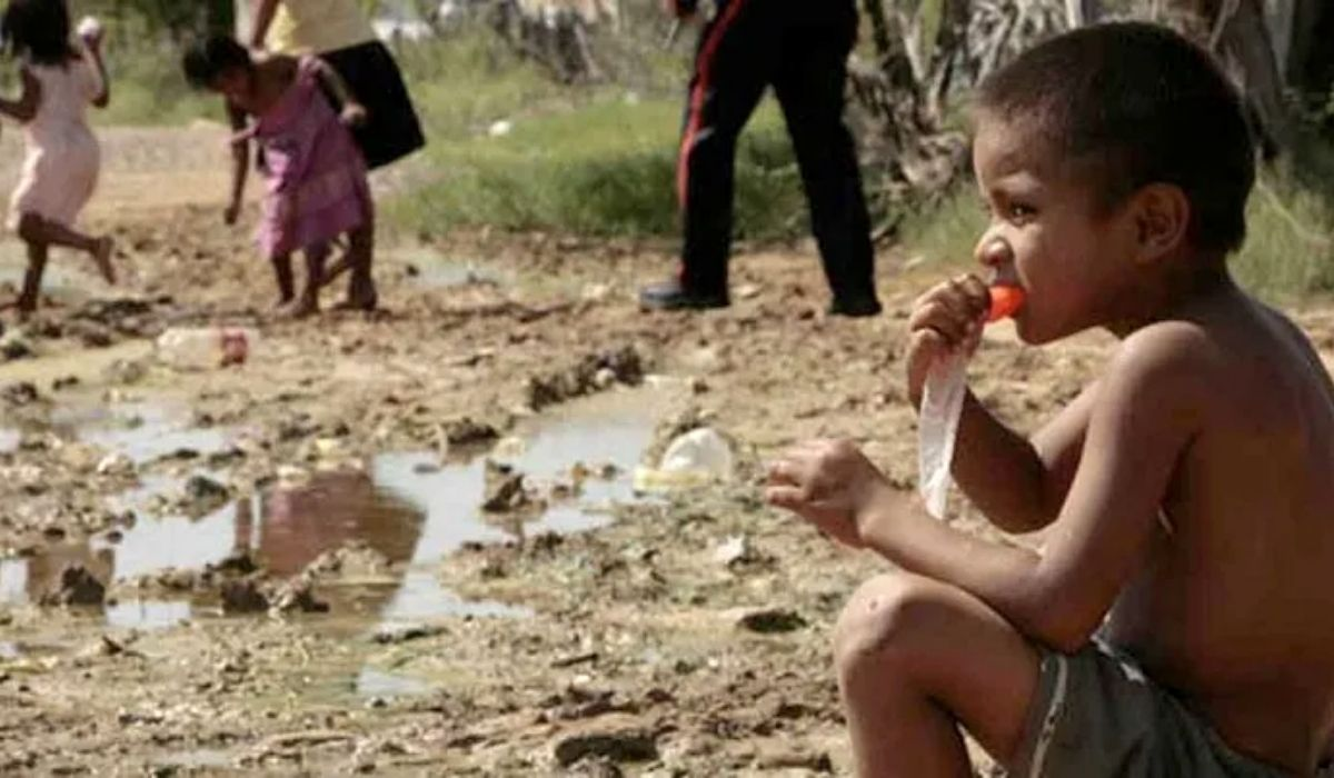 Niños desnutridos en La Guajira
